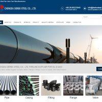 成都德波钢铁有限公司 网站首页截图