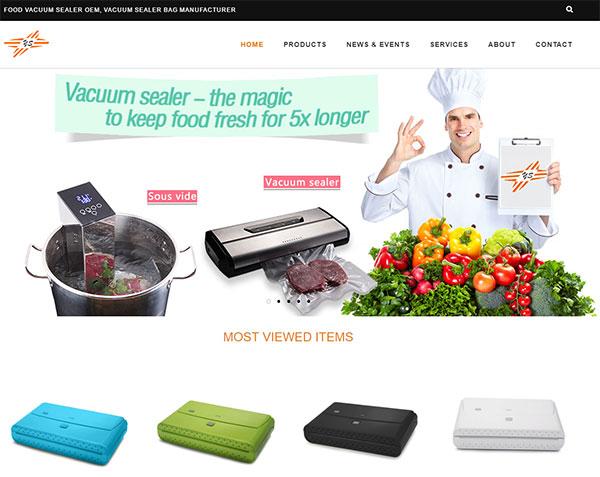 自适应式外贸企业网站制作案例